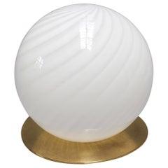 Vintage Italian Murano Glass Globe Table Lamp 'circa 1970s', Large