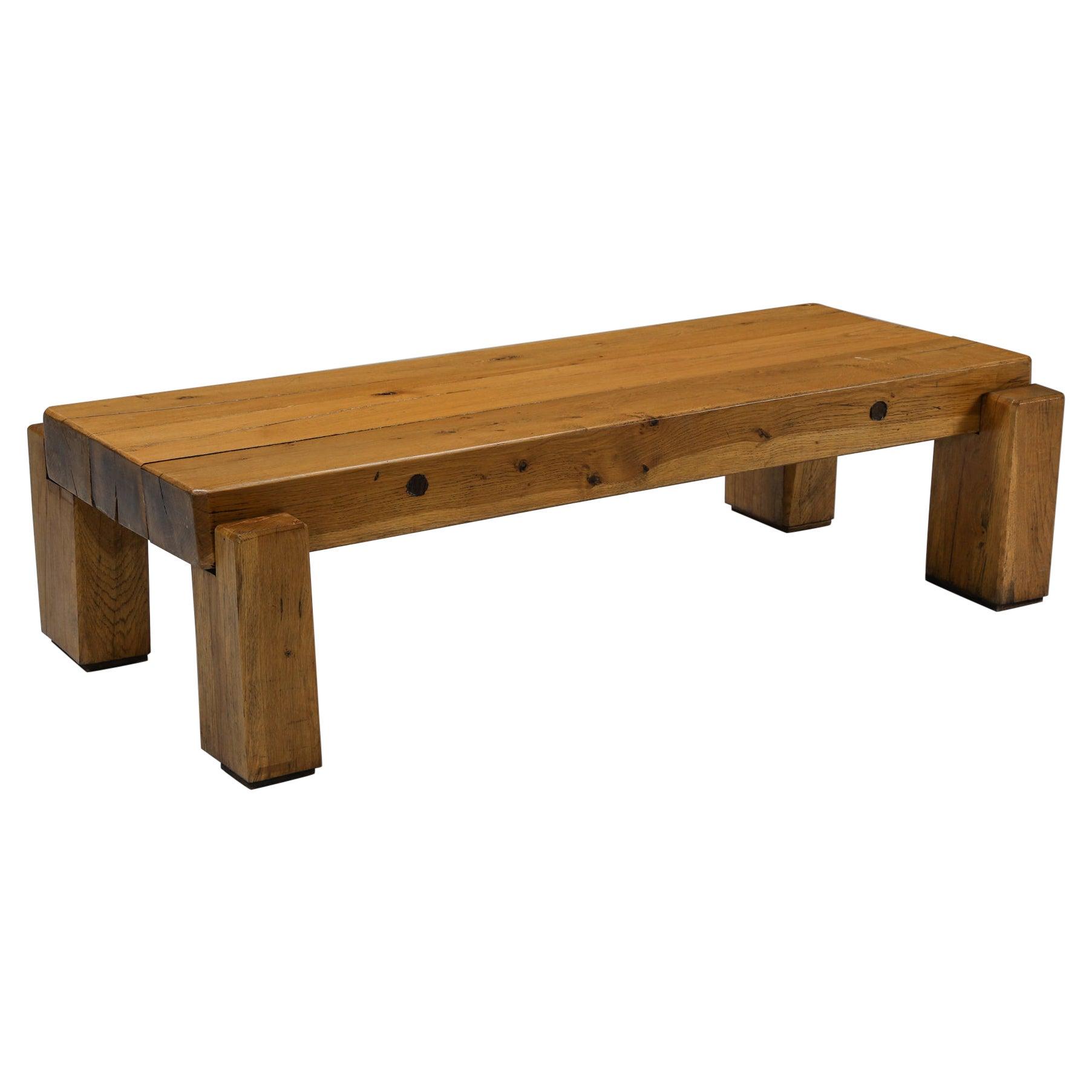 Rustic Wabi-Sabi Wooden Salon Table