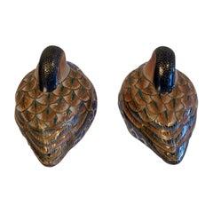 Darling Pair of Imari Style Porcelain Birds