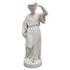 19th Century Parian Figure of the Lady with the Lamp