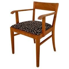 1920s German Art Deco Cherry Wood Armchair