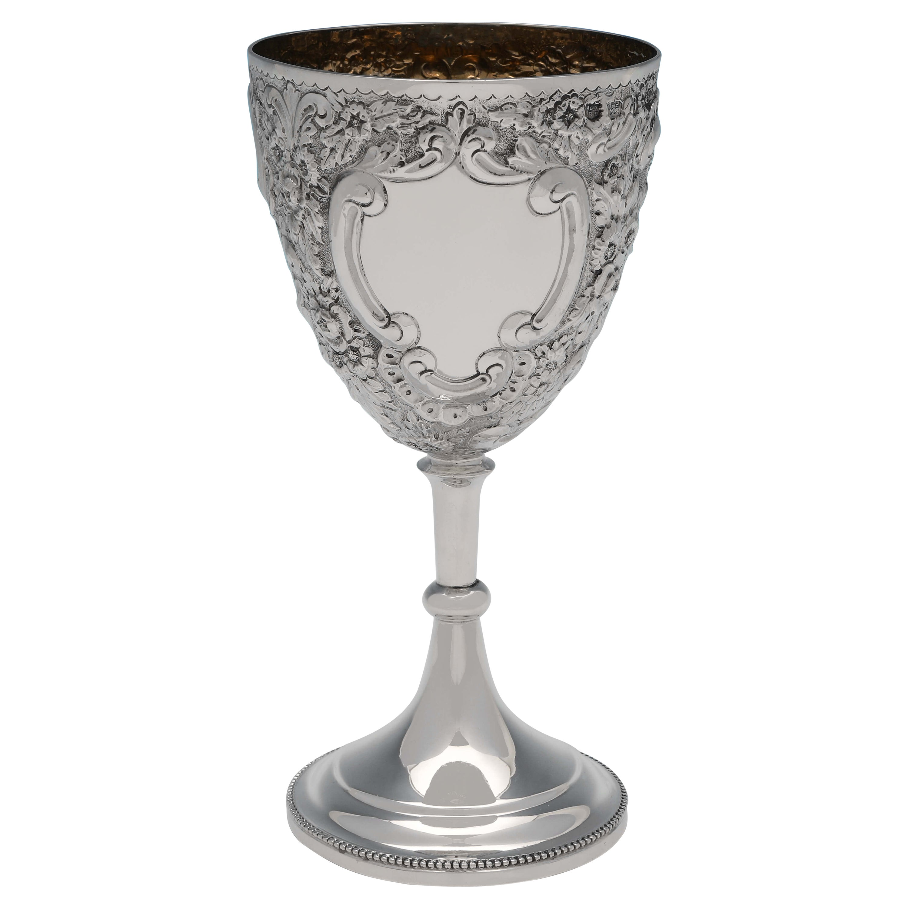 Victorian Antique Sterling Silver Goblet Hallmarked 1894 by Nathan & Hayes