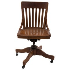 American Victorian Oak Swivel Chair