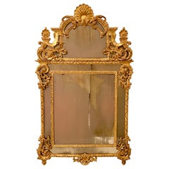 Large 18th Century German Carved and Gilded Neoclassical Mirror, Around 1770
