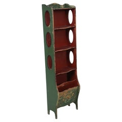 American Art Deco Style Painted Bookcase
