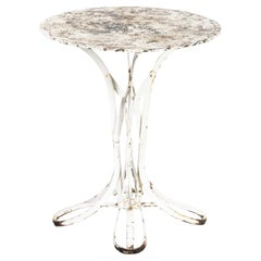1950's Sculptural French Gueridon Small Round Outdoor Table