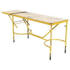 1960's French Army Industrial Field Table, Yellow