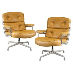 """Pair of Twelve Swivel """"Time Life Chairs"""" Designed by Charles & Ray Eames for"""