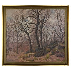 Antique Framed Oil Painting on Canvas by Joseph Caron '1866-1944'