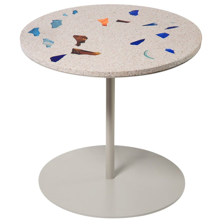 Basis Rho Customizable Round Neoterrazzo Dining Table by Studio Jeschkelanger For Sale