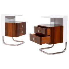 Modern Contemporary Customizable Bedside Tables, High Gloss Lacquered Wood