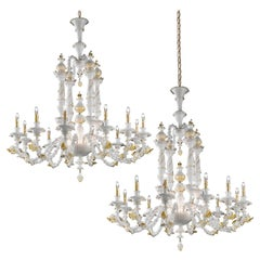 1 of the 2 Exceptional and Rich Dolphin Chandeliers by Signoretto, Murano