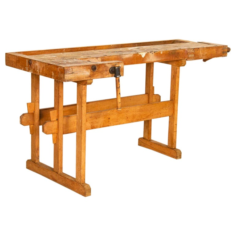 Rustic Vintage Carpenter's Workbench Work Table