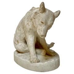 White Ceramic Bear Sculpture by Stellmacher Teplitz, 19th Century