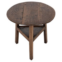 19thC English Oak Tiered Cricket Table