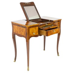 18th Century French Marquetry Louis XV Dressing Table or So-Called Coiffeuse