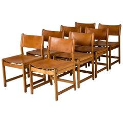 Set of Eight Oak Dining Chairs by Kurt Østervig for Sibast, Denmark, 1960s