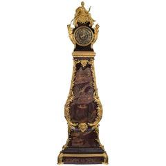 French 18th Century Coromandel and Ormolu Grandfather Clock