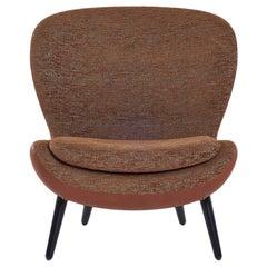 Armchair Frame in Composite Material Legs Matt Ebony Moka or Matt Black Lacquer