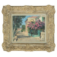 Early 20th Century French Signed Oil on Canvas Painting in Montparnasse Frame