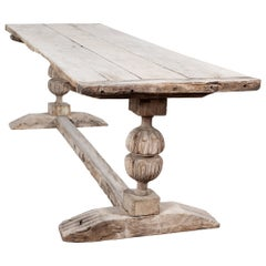 17thC English Bleached Oak Refectory Table