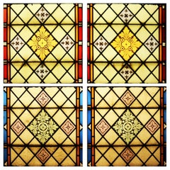Five Reclaimed Stained Glass Windows