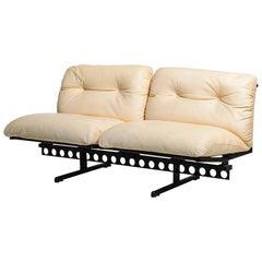 """Ouverture"" 2 Seat Leather Cushion Vintage Sofa"