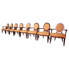 Barbara Barry for Baker Furniture Modern Dining Armchairs, Set of Eight
