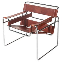 Marcel Breuer for Knoll Wassily Chair in Cognac Full Leather