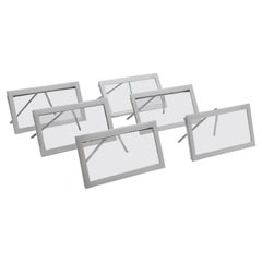 Stylish Antique Glass & Sterling Silver Set of 6 Place Card Holders, 1910