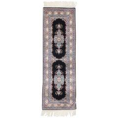 Vintage Turkish Silk Hereke Rug with Neoclassical Victorian Style