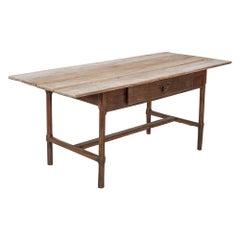 18thC French Elm & Oak Provincial Farmhouse Table