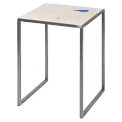 Contemporary Customizable Multicolored Basis Rho Neoterrazzo Side Table