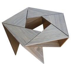 El Cangrejito, Pentagonal Modular Coffee Table Walnut Edition by Louis Lim