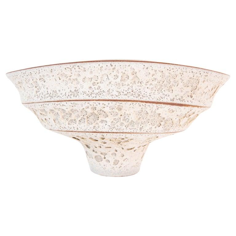 Jeremy Briddell Large Tiered Ceramic Bowl  For Sale