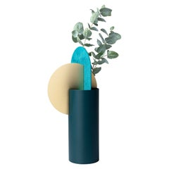 Limited Edition Modern Vase Yermilov CSL4 by NOOM in Oxidized Brass and Steel