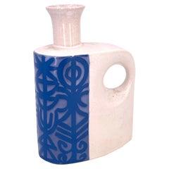 Mid-Century / Postmodern Ikebana Style Ceramic Vase