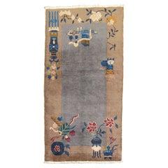 Gray Chinese Art Deco Rug