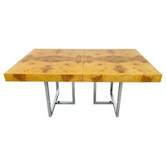 Milo Baughman Olive Burl Dining Table, Thayer Coggin