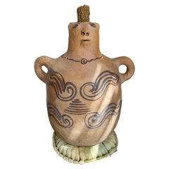 Terracotta Jug From Mexico, Circa 1970's