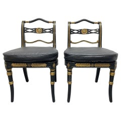Pair Neoclassical Style Side Chairs