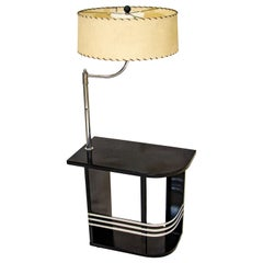Art Deco End Table with Lamp