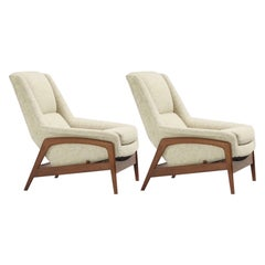 Pair of Folke Ohlsson Lounge Chairs in COM/COL