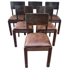 Set of Six Dudouyt Chairs