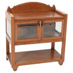 Oak Art Deco Amsterdam School Tea Cabinet Attributed to Hildo Krop, 1920s