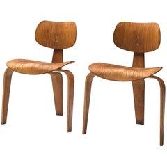 Egon Eiermann for Wilde + Spieth Pair of 'SE 42' Chairs in Plywood
