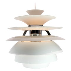 Ph Snowball with White Lacqured Shades Designed by Poul Henningsen