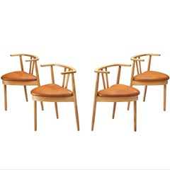 Danish Set of Four Dining Chairs in Oak