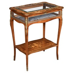 Walnut Inlaid and Metal Mounted Bijouterie Table