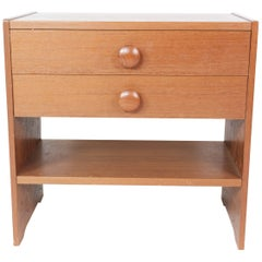 Bedside Table with Drawers in Teak of Danish Design by Pbj Furniture